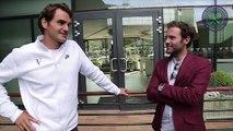 Juan Mata, David de Gea and Ander Herrera meet Roger Federer and Jamie Murray