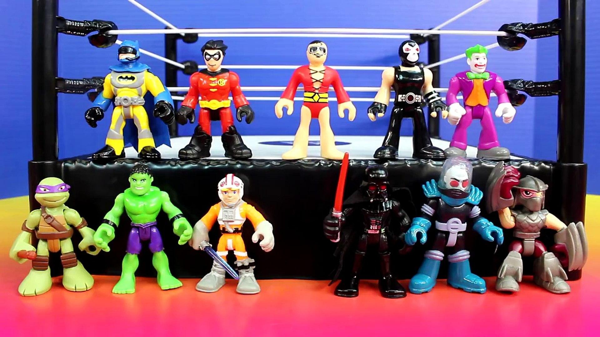 Imaginext Battle Wars 2 Batman Hulk Robin Joker Bane Shredder Mr. Freeze TMNT Star Wars Da