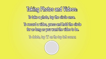 Snapchat How to Create and Send Snaps  - Snapchat Tip #3