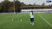 women footballer nice tackle