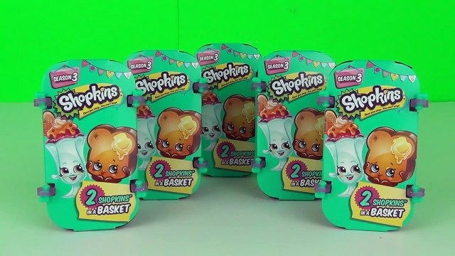 New Shopkins Season 3 Surprise Blind Baskets Unboxing Toy Review Moose Toys