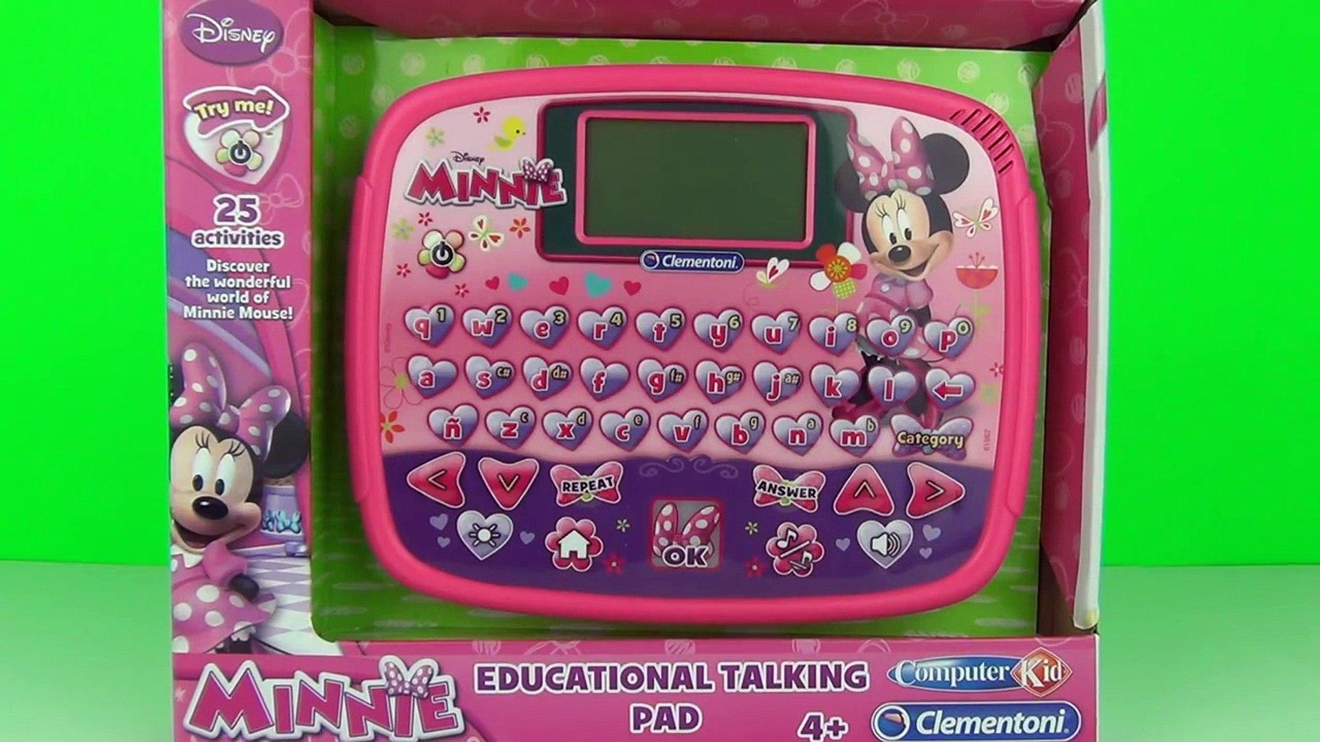 Disney Junior Minnie Mouse Computer Tablet Toy Review Unboxing Teach Kids Clementoni