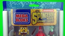 SpongeBob Movie Toys Post Apocalyptic Figure Pack Toy Review Unboxing Mega Bloks