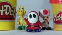 Giant Super Mario Shyguy Play Doh Surprise Egg Opening Nintendo Mario Bros Toys Playdough