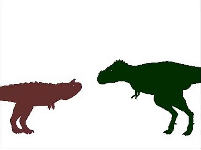 Dinosaur Territories - Tyrannosaurus rex vs Carnotaurus