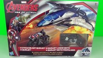 Marvel Avengers Age Of Ultron Toys Cycle Blast Quinjet Playset Toy Review Unboxing Hasbro