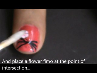 nail art tutorial with fimo flowers