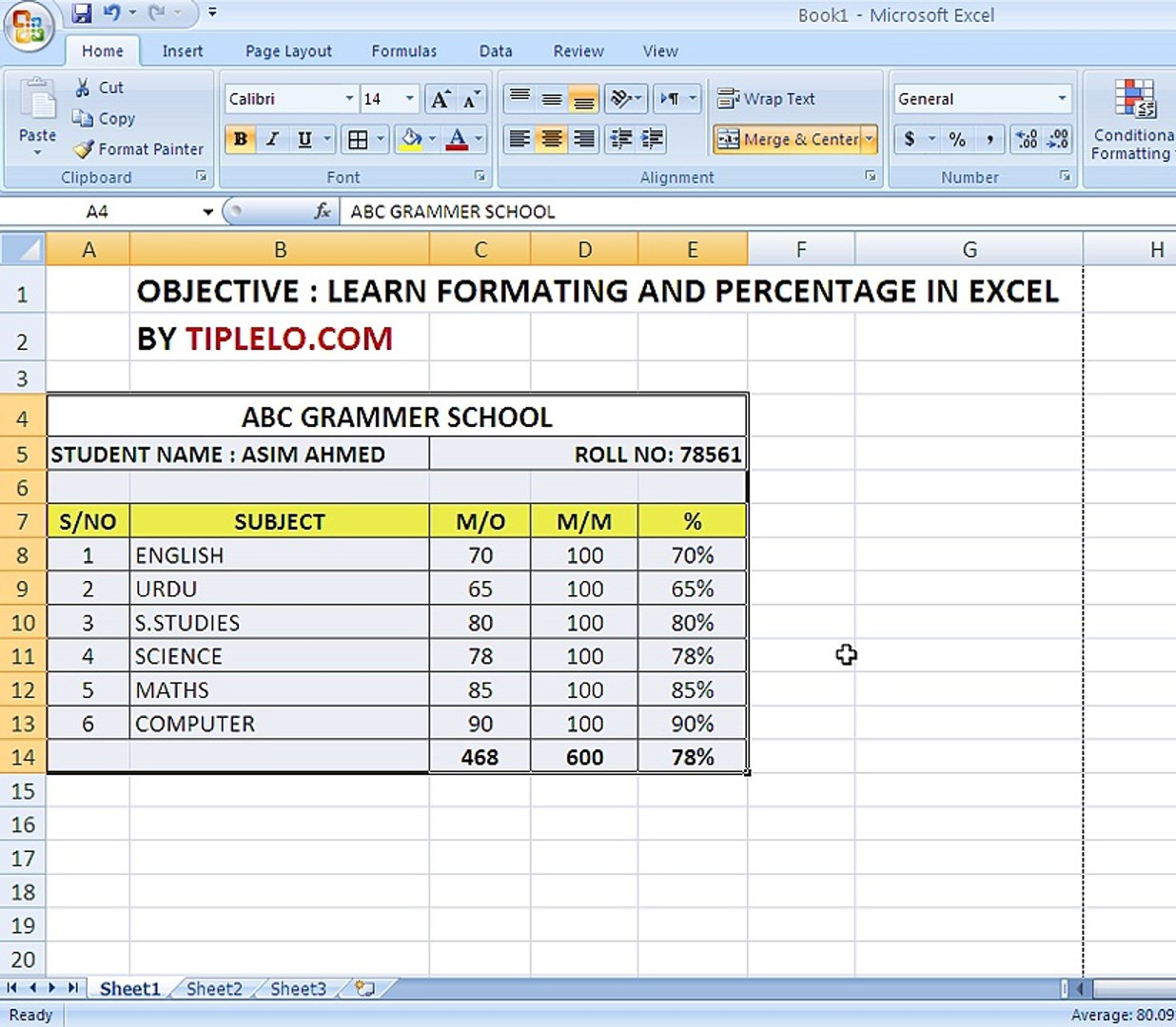 EXCEL FORMATTING AND PERCENTAGE FORMULA   video Dailymotion