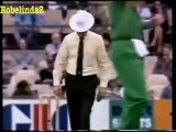 Lucky, lucky batsman, twice out in 2 balls, but NOT OUT both times!. Rare cricket video