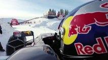 Max Verstappen nous propose une petite balade en F1 sur une piste de ski