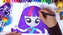 MLP My Little Pony Equestria Meisjes Mini s Snelheid-Kleur! Twilight Sparkle, AppleJack MLP Kleur Art