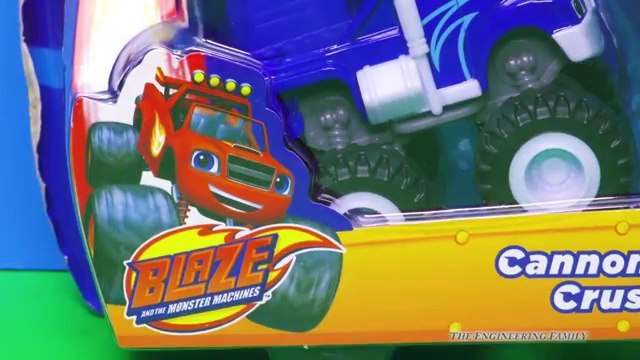 BLAZE AND THE MONSTER MACHINES Nickelodeon Blaze Crusher's Cannon a Blaze Video Toy Review