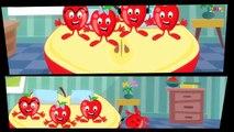 Five Little Apples | Kids Nursery Rhyme | Childrens Song | Video For Infants