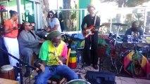 Stevie Wonder sings Bob Marley with local reggae band