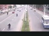 Nepal Earthquake   CCTV footage  at a road in nepal 25 April 2015 Biggest Earthquakes