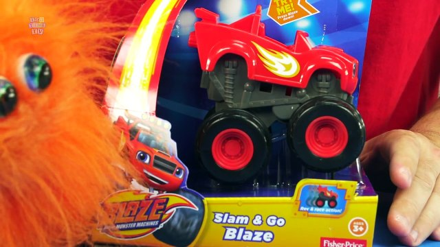 BLAZE AND THE MONSTER MACHINES Slam & Go Blaze Racing Toy Monster Truck From Fisher Price