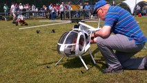 HUGHES 500 E GIANT RC SCALE MODEL ELECTRIC HELICOPTER FLIGHT DEMO / Turbine Meeting 2015
