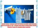 Leifheit Telegant 100 wall mounted clothes airer / dryer in white 3 year warranty