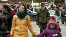 Portrait d'un juif-orthodoxe en tenue de combat en Ukraine