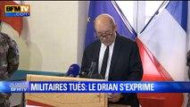 Avalanche à Valfréjus: Jean-Yves Le Drian rend hommage aux militaires tués