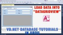 P(1) VB.NET Access Database Tutorial In Urdu - Load Data In DataGridView Control
