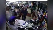LiveLeak - Fuel station worker fights off gun toting robber with shoe