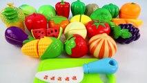 JOUET COUPE de Fruits et de Légumes Velcro de Cuisine Set Pastèque, Raisins, de Maïs, de Pomme