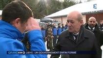 Avalanche à Valfréjus : l'hommage de Le Drian aux militaires