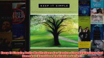 Download PDF  Keep It Simple Daily Meditations For TwelveStep Beginnings And Renewal Hazelden FULL FREE