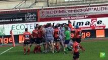 Bagarres dans le derby Narbonne - Carcassonne du samedi 15 mars 2014 :
