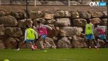 Séquence de l'entraînement du mardi 19 janvier 2016, à la veille du 16e de finale de coupe de France entre l'OM et Montpellier.