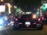 Lewis Hamilton et Justin Bieber en Laferrari à Beverly HIlls