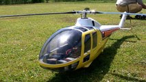 LOCKHEED 286 L WITTE SCALE RC ELECTRIC MODEL HELICOPTER FLIGHT / Turbine meeting 2016 *108
