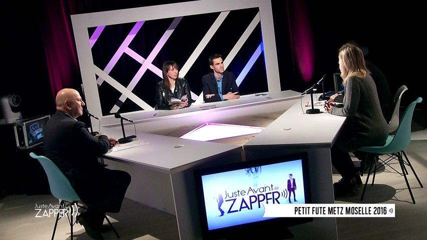"""Petit Futé représenté par Michel Granseigne chez """"Juste avant de zapper"""" pour le lancement de la nouvelle édition du city guide Metz"""