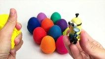 APPRENDRE les COULEURS Play Doh Surprise Œufs Congelés Peppa Pig Masha Sbires Shopkins Jouets de la Pâte à modeler Oeufs
