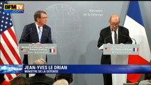 """Jean-Yves Le Drian:  """"un recul de Daech"""" observé """"ces dernières semaines"""""""