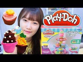 플레이도우 컵케이크 타워 만들기 점토 장난감 - Play Doh sweet shoppe/ Cupcake Tower playset 넹또의 장난감 놀이[또이]