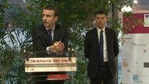 Emmanuel Macron et Pascal Faure présente leurs voeux aux personnels de la DGE