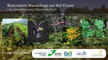 MSV 2015 - Atelier itinéraires technique - matières organiques - François Mulet