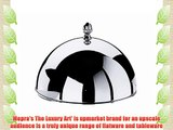 Mepra 31 cm Cloche with Knob for Underplate Silver