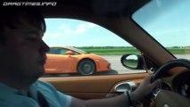 Porsche 911 Turbo DMY vs Porsche 911 GT2 9ff vs BMW M3 V10 vs Lamborghini LP550