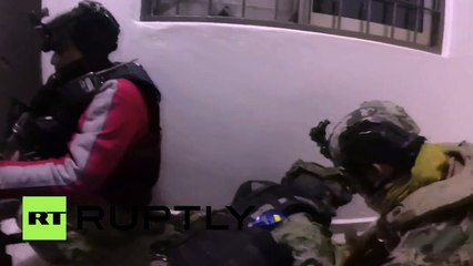 RAW: Heavy gunbattle as police arrest Mexican drug baron 'El Chapo'