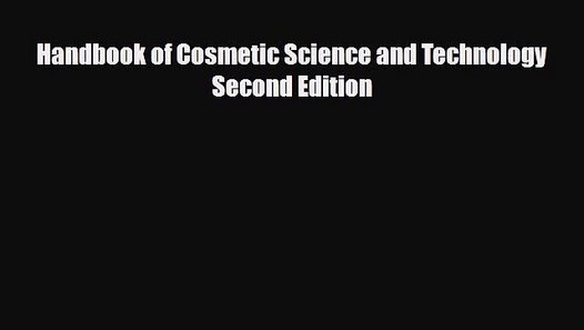 Cosmetic science and technology pdf