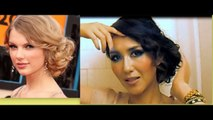 TAYLOR SWIFT HAIR TUTORIAL | CUTE HAIRSTYLES | CURLY MESSY BUN UPDOS for MEDIUM LONG HAIR | PROM new