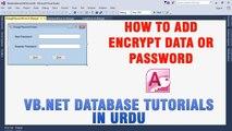 P(8) VB.NET Access Database Tutorial In Urdu - How to Encrypt Data/Password
