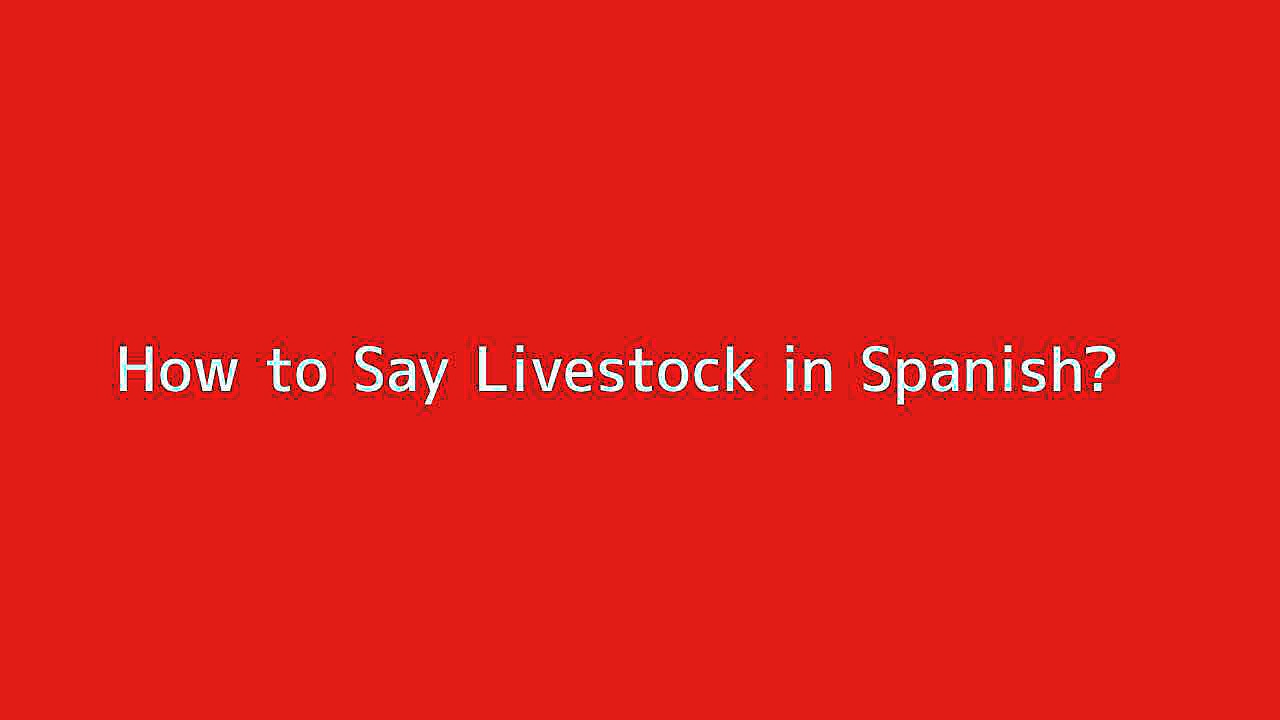 How to say Livestock in Spanish