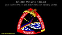 Shuttle Mission STS 48 UFO exhibits changes in velocity vector Flightpath Tracking Enhance