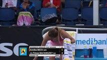 Annika Beck v Timea Bacsinszky highlights (2R) (720p Full HD)