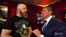 Mr. McMahon gives pre-match instructions to Roman Reigns and Sheamus: Raw, January 4, 2016