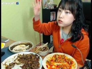 터민 깐쇼새우+쟁반짜장+볶음밥 먹방 (feat.동생 목소리)